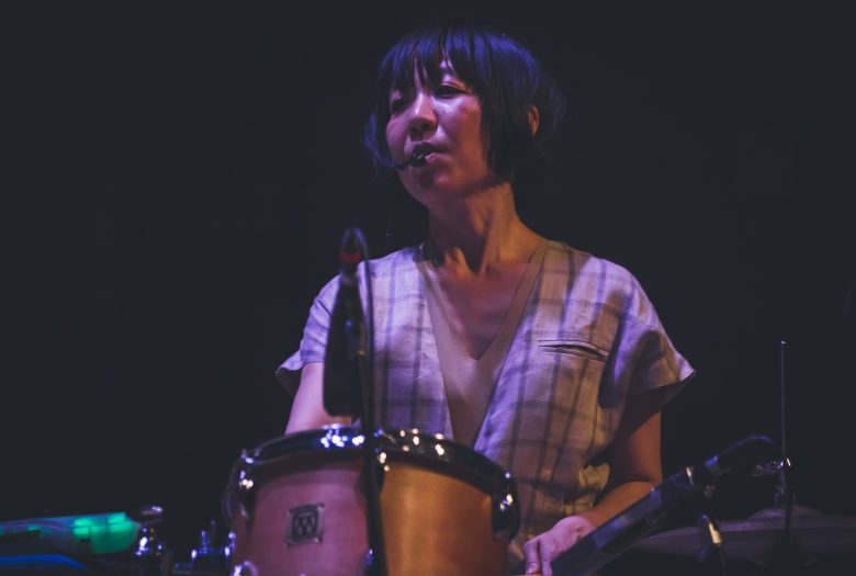 YoshimiO on drums at Roulette 2019