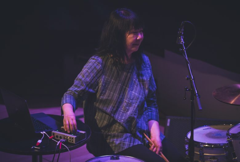 Ikue Mori on drums at Roulette 2019