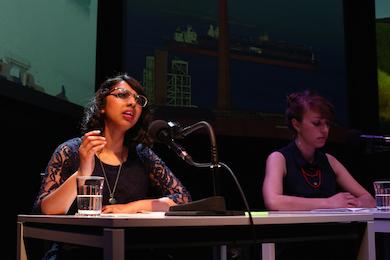 "Amirtha Kidambi in ""Crash"" (Aliza Simons in background)"